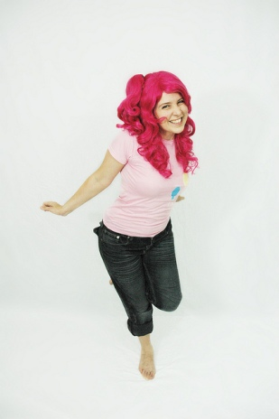 Ruth, photographed as Pinkie Pie.