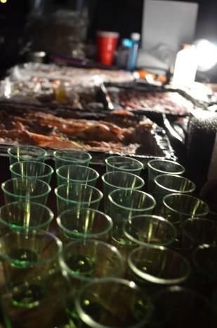 Shotglasses and flesh