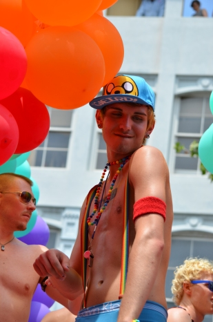 Try not to lose your mind over how cute this guy is. Philadelphia Pride Parade 2013