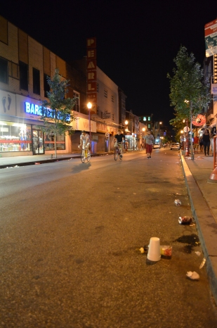 South Street after the J. Cole Concert.