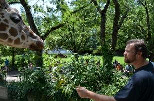 Jared Feeding the Giraffe: 24 Hour Photoshoot