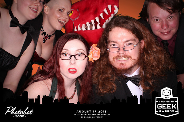 The Velociraptor! Cannibalism! crew at the Philly Geek Awards as captured by photobot3000
