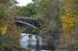 Landscape: Bridge and Waterfall