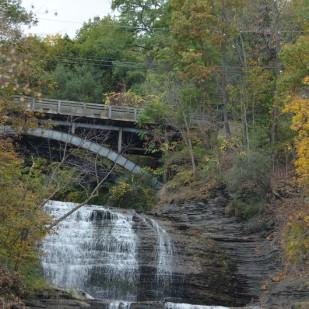 Landscape: Bridge and Waterfall