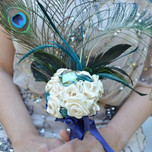 Peacock Feather Boquet