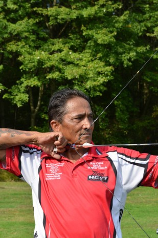 Ray Caba, the veteran archer