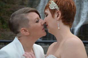 Weddings, New York Weddings, LGBT Weddings, Kiss, Brides, Suit, Women, J.R. Blackwell