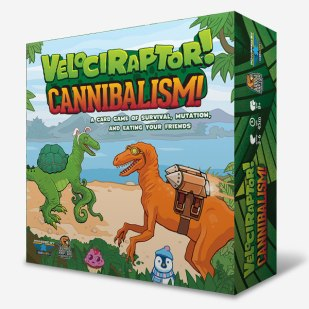 Velociraptor! Cannibalism! Based on a crude understanding of natural selection, Velociraptor! Cannibalism! puts you in the role of a young, eager, and bright-eyed heartless killer. As a velociraptor, you must find prey, survive environmental disaster, mutate, and steal the bodies of your enemies.