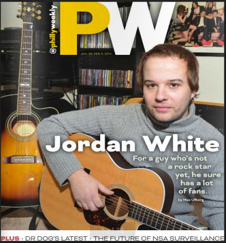 Jordan White on the cover of Philadelphia Weekly